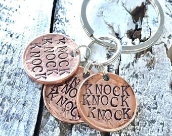 Knock Knock Knock Penny Key Ring from The Big Bang Theory