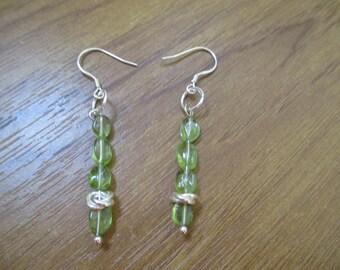 Peridot  925 sterling silver earrings