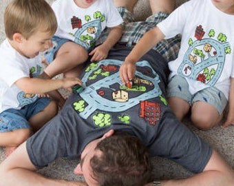 Kids play mat, 2XL, road play mat, family road trip, car play mat, baby shower gift, children gifts, gift for boys, gift for dad, fast car