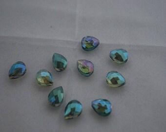 Crystal Aurora Borealis multicolored 13 * 16mm beads