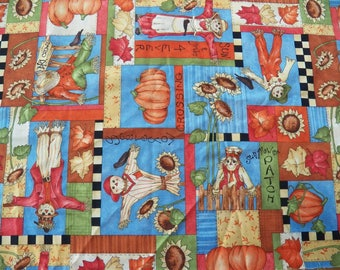 Vintage Springs Leslie Beck Fall/Autumn Scarecrow 1 Yd Fabric~CHARACTER PATCH Co