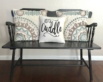 Lets Cuddle Pillow Cover