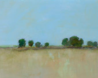 """Trees and Field 9""""x12"""""""