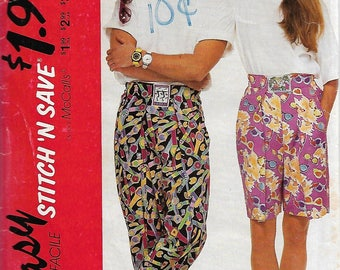 1990's Easy Stitch 'N Save 5910 Size EX-SM Misses', Men's or Teen Boys' T-Shirt and Pants or Shorts Sewing Pattern 1992 Uncut