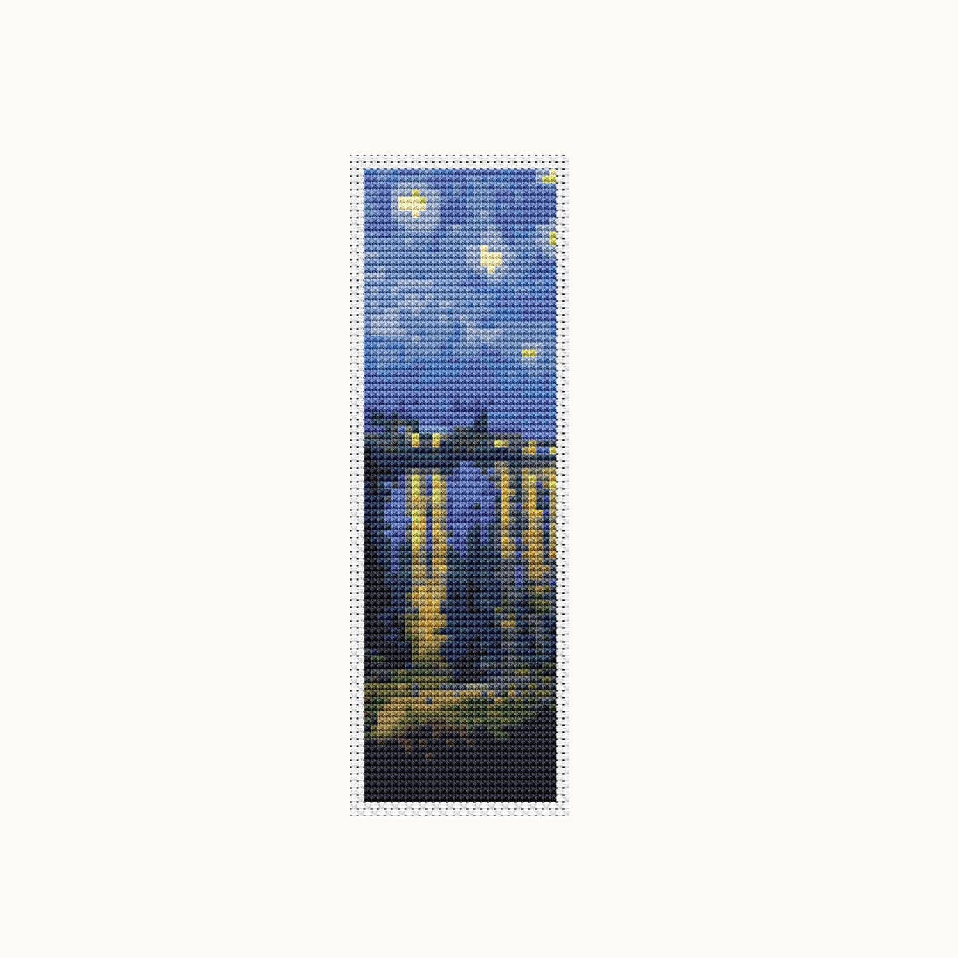Bookmark Cross Stitch Kit Starry Night Over Rhone Vincent