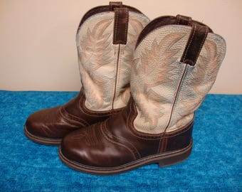 Justin Western Style  Work Boots Size 9 1/2D