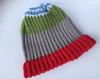 Knit Winter Hat – Harlequin Style