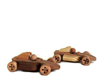 Set of  two wooden toy cars,Wooden toy car, Toys for boys, toys for girls,  wooden toys, Toy car, wooden hot rod, Childrens toys