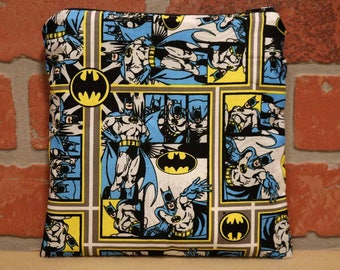 One Sandwich Bag, Reusable Lunch Bags, Waste-Free Lunch, Machine Washable, Batman, Sandwich Sacks, item #SS89