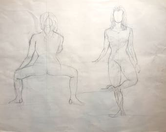 Sketch of Women From Life, One of a Kind