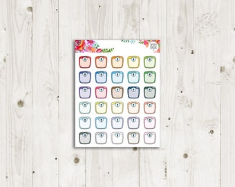 Weight Scale Stickers - ECLP, Happy Planner, TN Planner Stickers