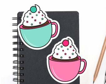 Planner Die Cuts Printable, Coffee Die Cuts, Cute Food Die Cuts, Scrapbook Die Cuts, Planner Accessories - Office Supplies
