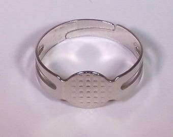 Ring silver adjustable 14mm (child size)