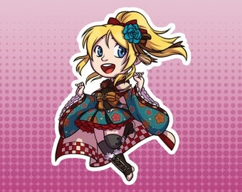 LLSIF Love Live School Idol Festival / School Idol Project - Eli Ayase 'Taisho Roman' Large Die Cut Vinyl Fan Art Sticker