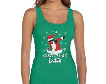 Dabbing Santa Christmas Dab Funny Xmas Women Tank Top