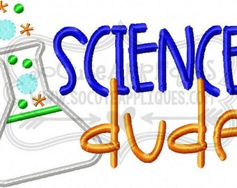 Science Dude! T-shirts/ Back to School Shirts/ Embroidered T-shirt/ Toddler T-shirt