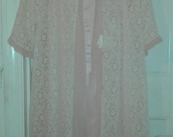 Vintage 60s Peignoir Nightdress Robe Set