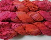 NEW 50 Yards of Autumn Rose,  Rose and Orange Mix,  Fair Trade from India