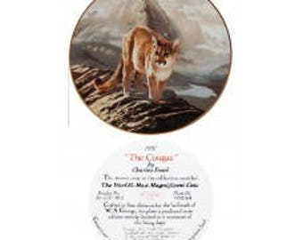 Knowles China Cougar Plate by Charles Frace'