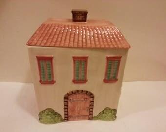 Tuscany Village Ceramic Cookie Jar
