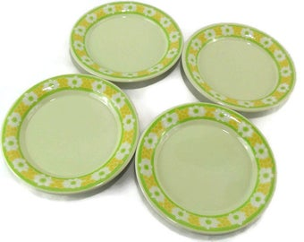 Vintage Franciscan Earthenware  'Picnic' Salad Plates * Set of 4