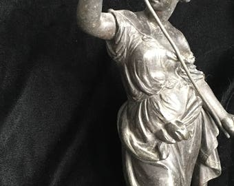 Very Large, Old and Beautiful French Statue of a Greek or Roman Goddess