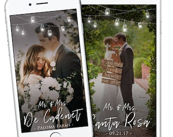 Wedding Day Geofilter, Wedding Snapchat Filter, Lantern String Light Snapchat Geofilter, Wedding Classic Minimal Geofilter, Pretty Snapchat
