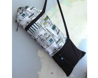 Yoga mat bag, Yoga mat carrier - London, Paris, Venice, Chicago Architecture - Medium