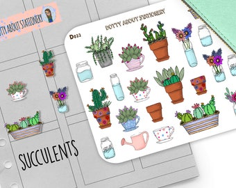 Succulents TRANSPARENT STICKERS