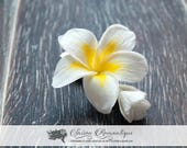 Hair clip Plumeria - Polymer Clay Flowers - Wedding Accessories