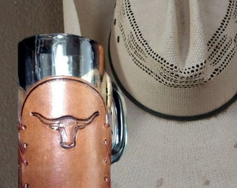 Rustic Beer Mug - Man Cave Beer Mugs - Western Style Beer Stein - Groomsmen Gift - Rustic Wedding Mug