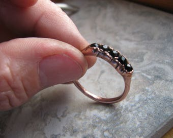 Black Onxy and Copper Electroformed Ring, One of a Kind (OOAK), Size 10 US Toniraecreations