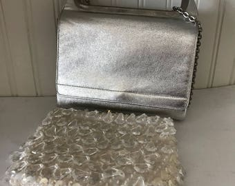Vintage Purse Miss Lewis Silver Shoulder bag & Crystal Handbag