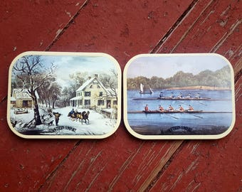 Set of Two Vintage Southern Comfort Coasters - 1980's