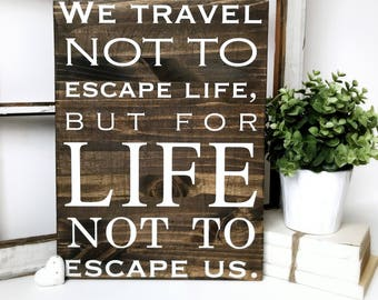 Travel Quote | Wood Sign | Home and Office Decor