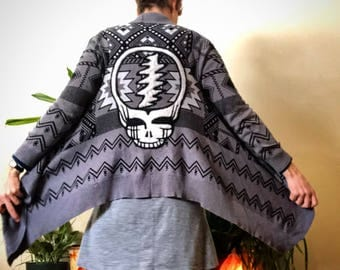 One Of a Kind Handfelted Steal Your Fave on Upcycled Tribal Sweater