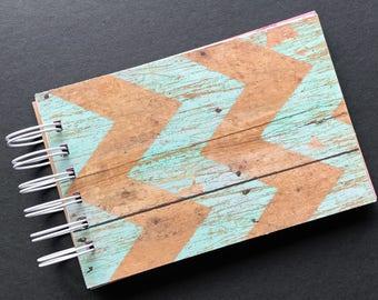 """4"""" x 6"""" Handmade Mixed Media Journal, Scrapbook, Art Journal, Gift Idea J"""