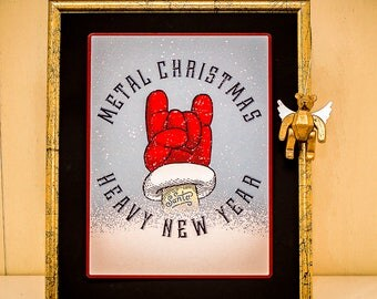 Metal Christmas heavy New Year-PosterCard-Maxi
