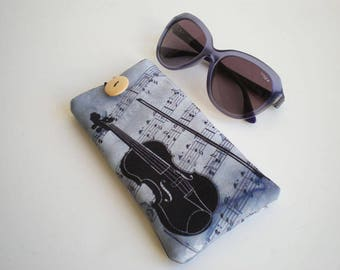 Glasses case, sunglasses case, eyeglasses case, Case for sunglasses, Quilted eyeglass case, glasses sleeve, sunglasses sleeve, vintage