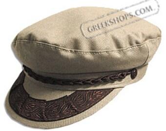 Greek Fisherman's Hat -Cotton - Tan