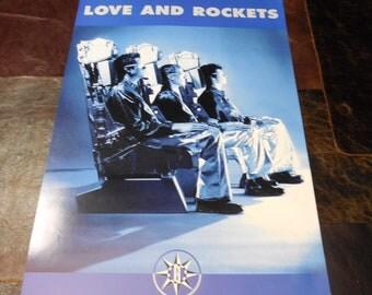 Mint Love and Rockets Original Promo Poster 1998 Austin Tx