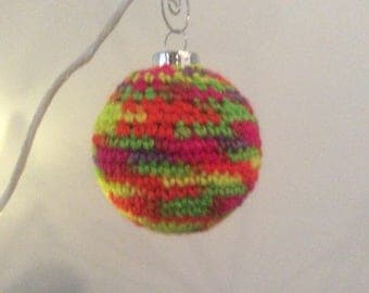 Hand crocheted holiday ornament