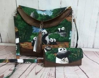Hippo Hobo bag crossbody bag Panda