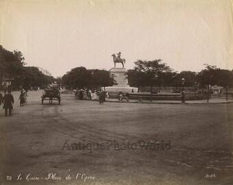 Cairo Egypt opera square antique photo Africa Bonfils