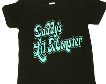 Daddy's LIl Monster Shirts, Daddy's Little Monster Tee Shirts, Little Monster kids t-shirt, Daddy's Little Monster Children's T Shirt