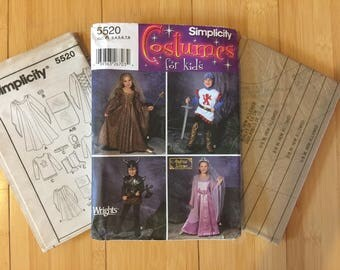 Queen, Knight kids 3, 4, 5, 6, 7, 8 Simplicity 5520 boy girl princess fairy medieval renaissance viking hobbit Game of Thones