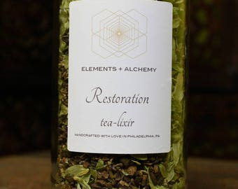 Restoration Herbal Tea-lixir with Roasted Dandelion Root + Hops