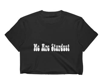 We Are Stardust Black Crop Top