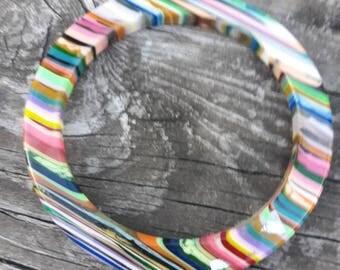 Lucite Bangle Bracelet Signed Sobral