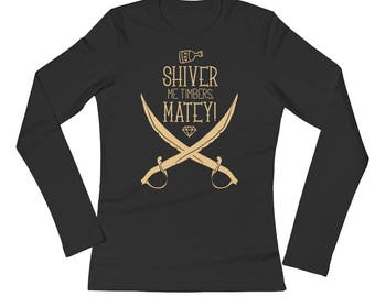 Shiver Me Timbers Matey Girls Pirate Costume Long Sleeves